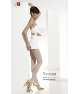 SECESSIOM Patterned wedding tights