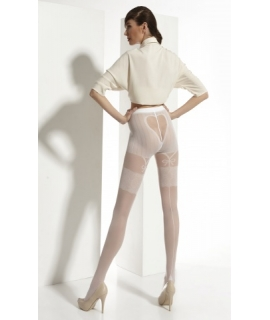 LORA Patterned wedding tights