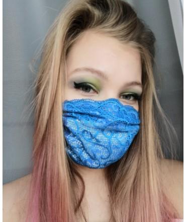 Maseczka Koronkowa Blue